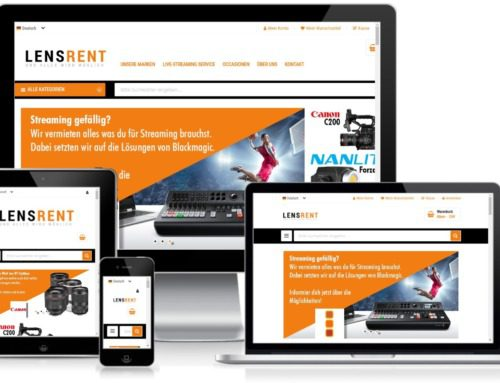 Lensrent new with Magento 2